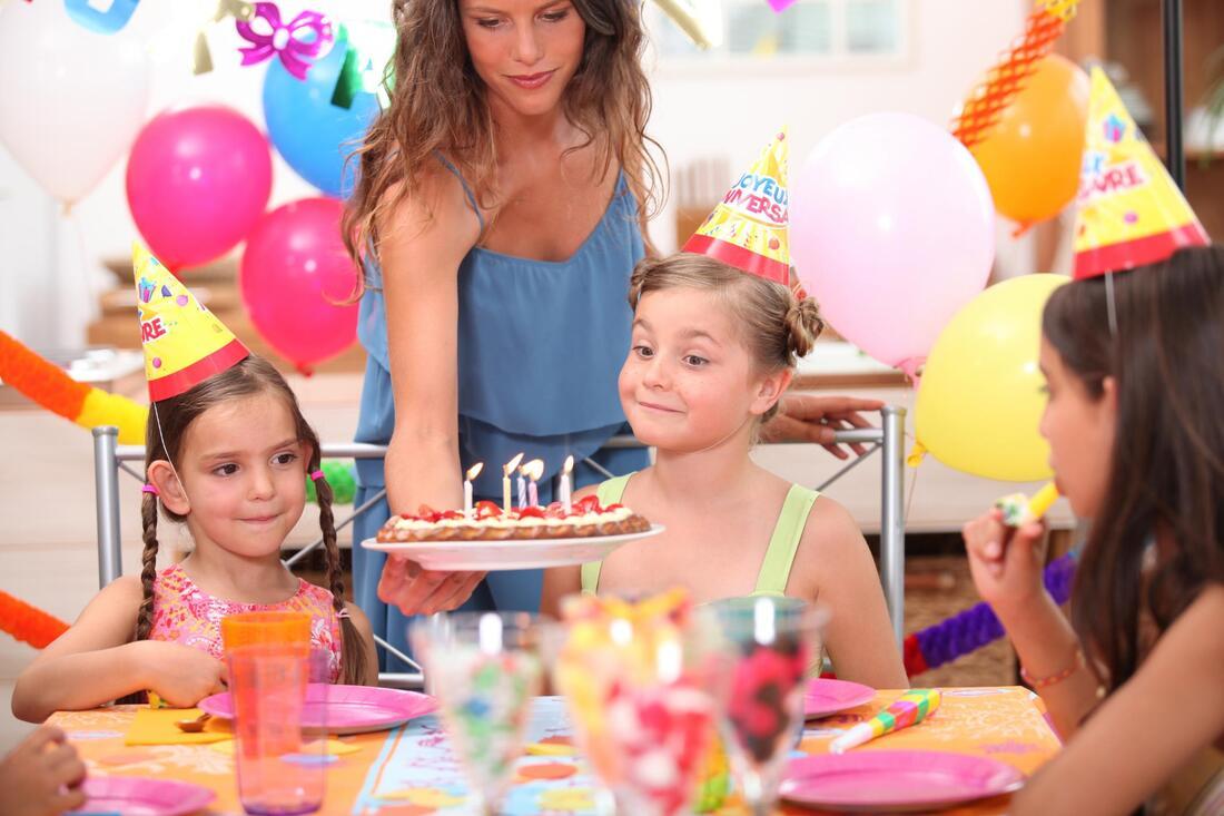 a kid celebratring her birthday
